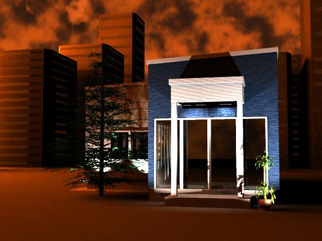 【建築・3DCG】二回目の建築デザイン Second architectural design